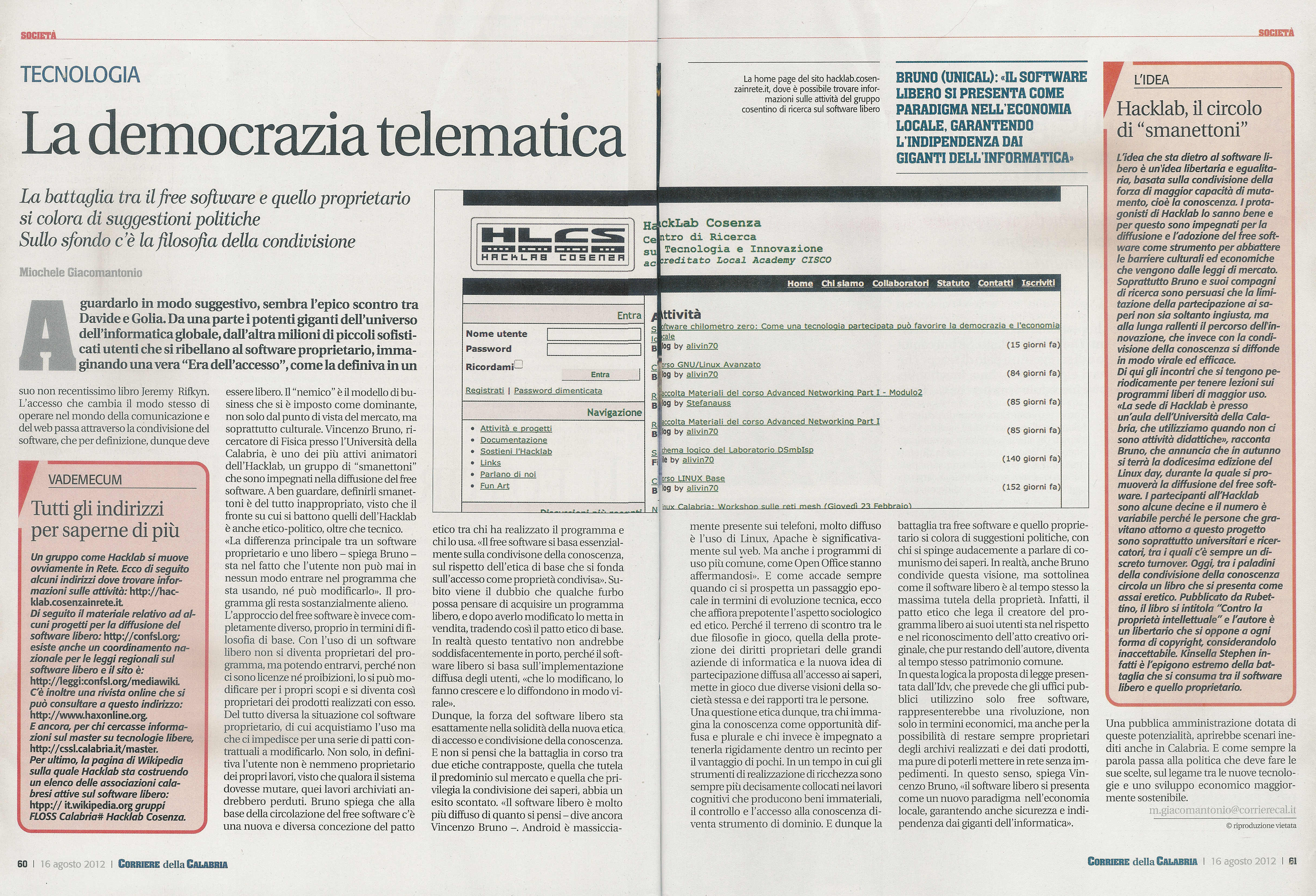 La Democrazia Telematica