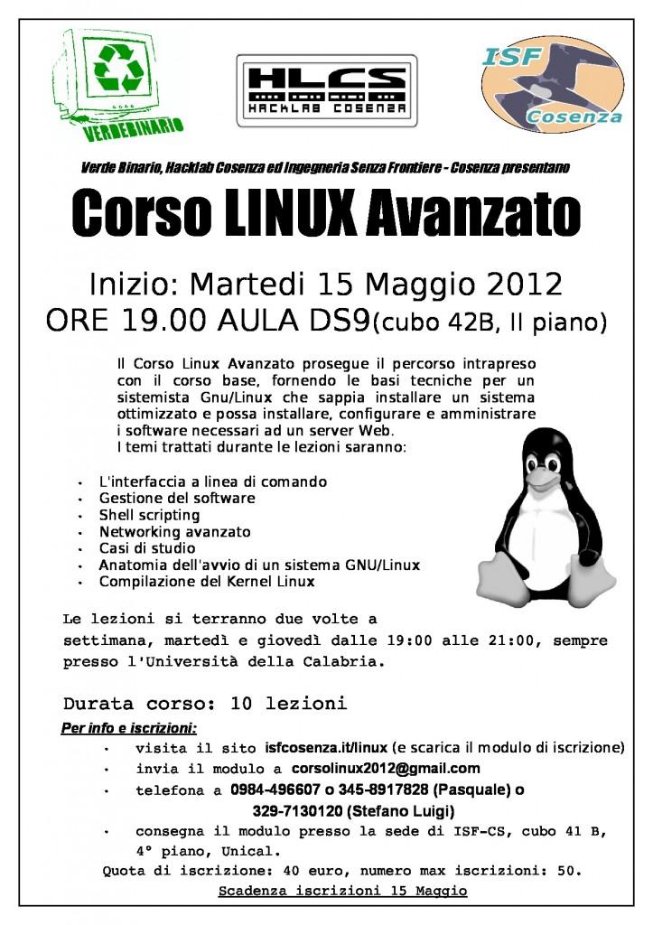 Corso Linux Avanzato 2012