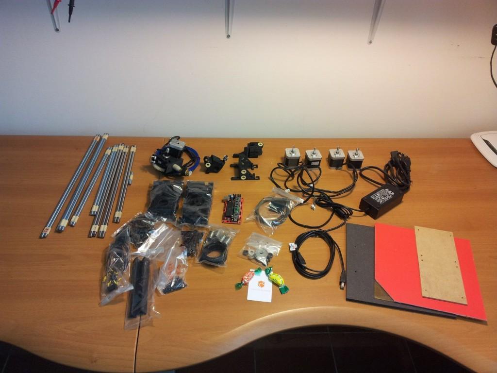 Il kit della Galileo Next appena unboxato.