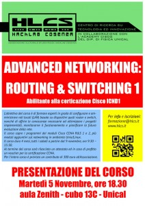 Locandina corso Networking I 2013/2014