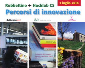 Locandina Rubbettino + Hacklab CS: Percorsi di innovazione