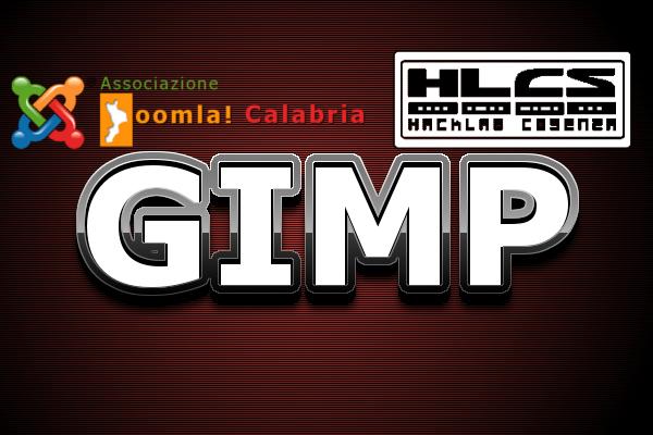 Logo Gimp con Hacklab Cosenza e Joomla Calabria