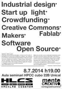Valerio Lupia terrà un talk sulle sue esperienze professionali come architetto e come designer ad alta tecnologia e con il pallino per il Software Libero e Open Source.