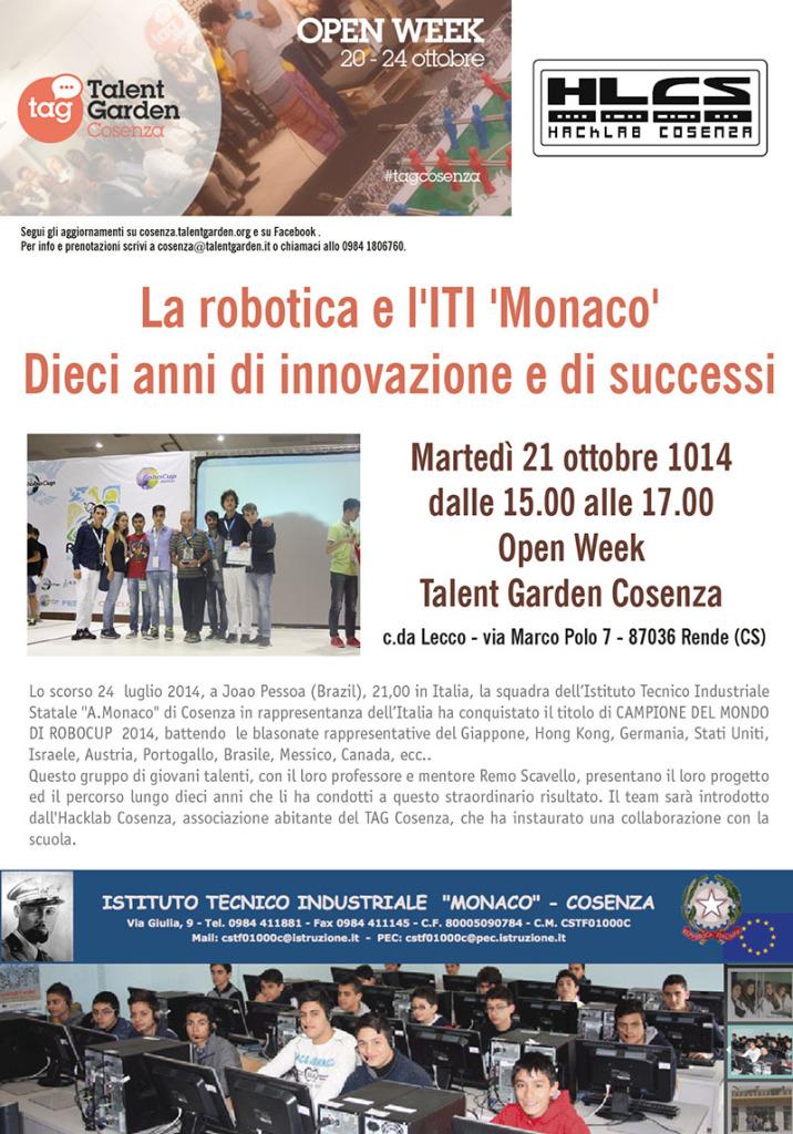 locandina seminario ITI Monaco Cosenza