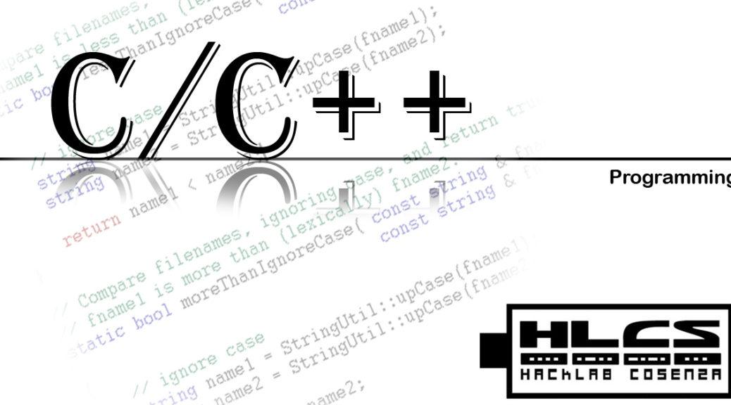 Corso di programmazione C/C++